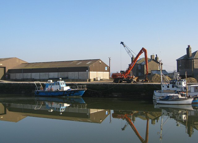 Reflections of works at Glasson Dock