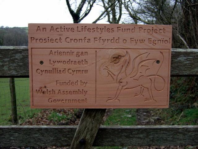 Footbridge project sign
