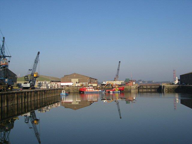 Idle cranes, Glasson Dock