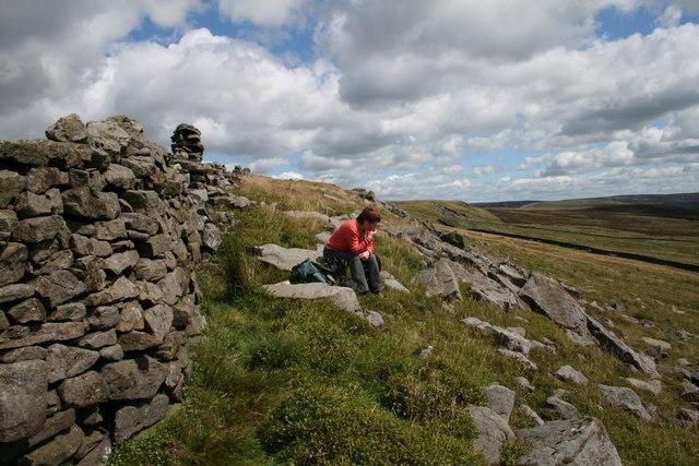 White Moor. Dry Stone Wall, Lunch break