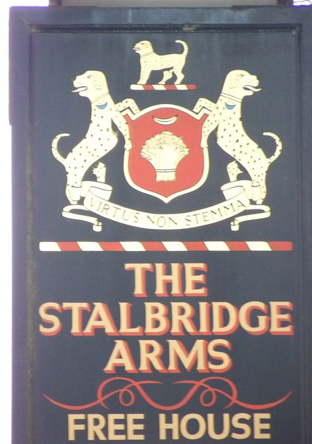 Sign for the Stalbridge Arms, Stalbridge