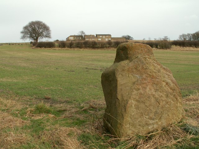A stone on the footpath from Haigh Lane to Woolley Edge Lane