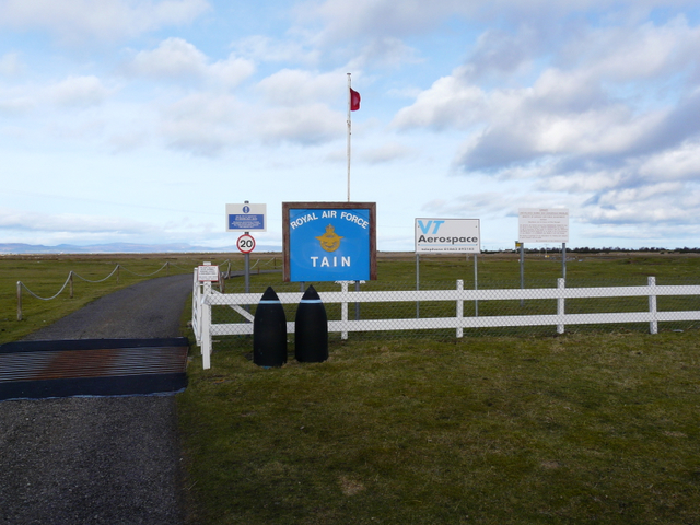 Entrance to Tain bombing range