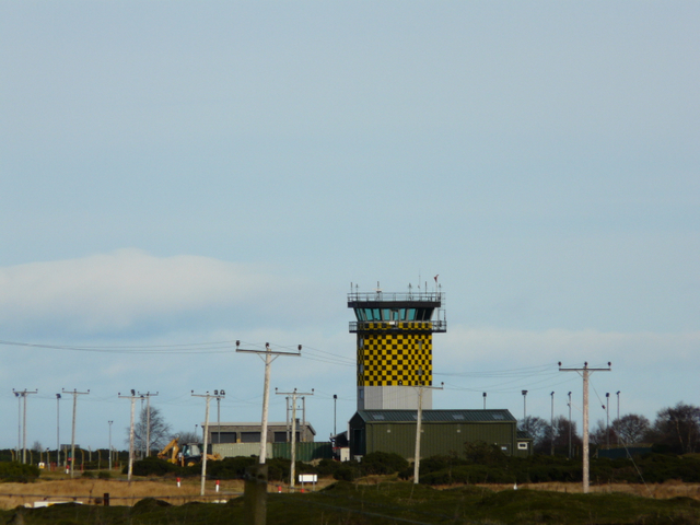 Control tower at Tain Range