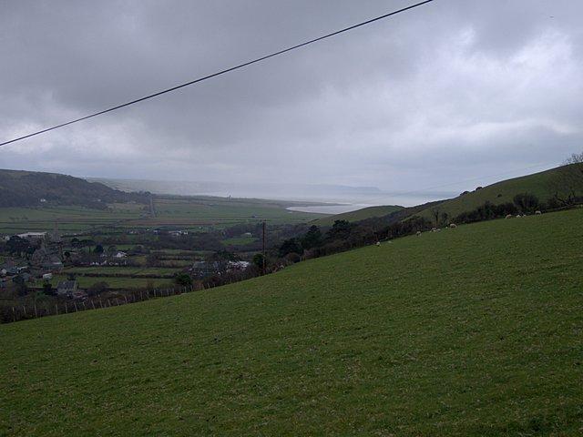 Enclosed grazing land at Penlan farm