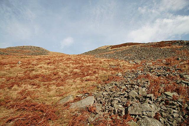 The stony southwest slopes of Bow Castle