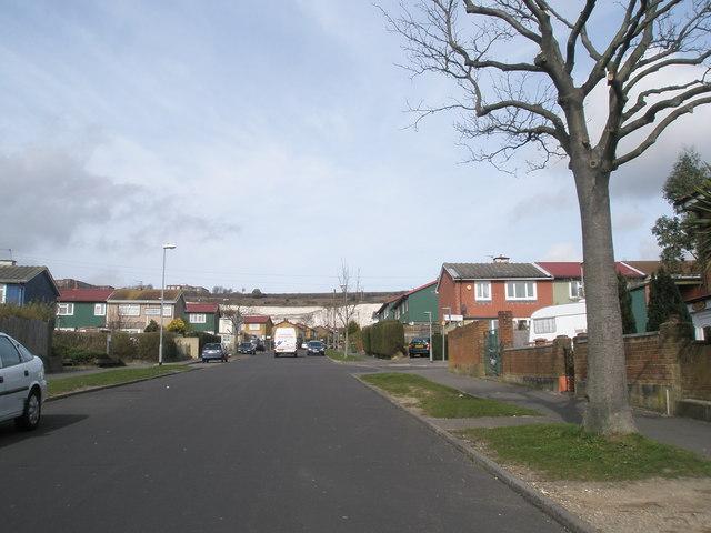 Looking up Woofferton towards Portsdown Hill