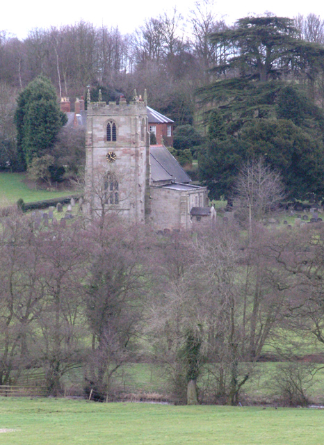 Cubley church from the A515