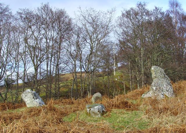 Stone circle near the A 839