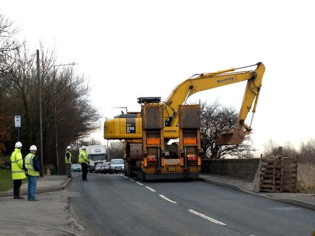Obstruction on B6131 Darton Lane