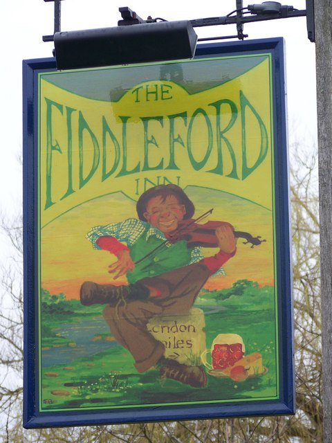 Sign for the Fiddleford Inn