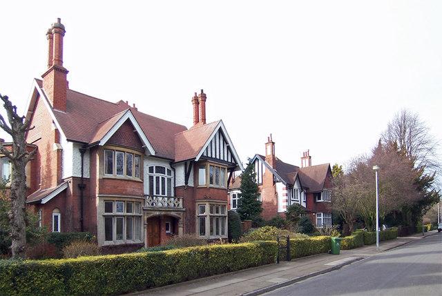 Houses on Park Drive, Grimsby