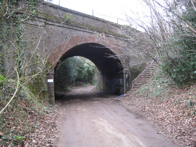 Witley: Mill Lane railway bridge