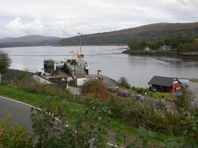 "Ferry Pier, Lochaline and ""Jean's"" Hot Food Bar"