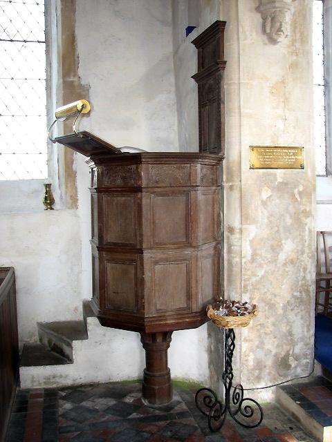 The church of St Nicholas - pulpit