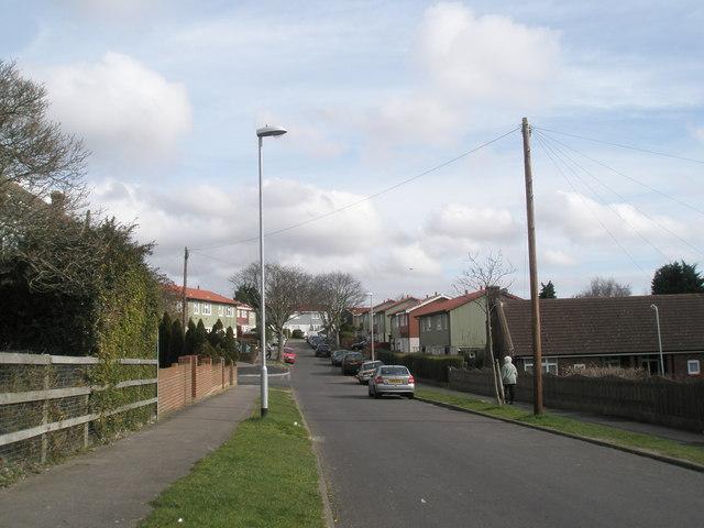 Looking eastwards along Collington