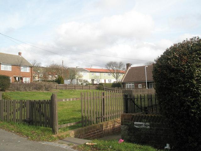 Small green in Collington Crescent