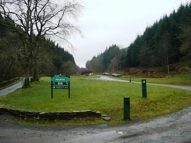 Car park at Blaen y Cwm