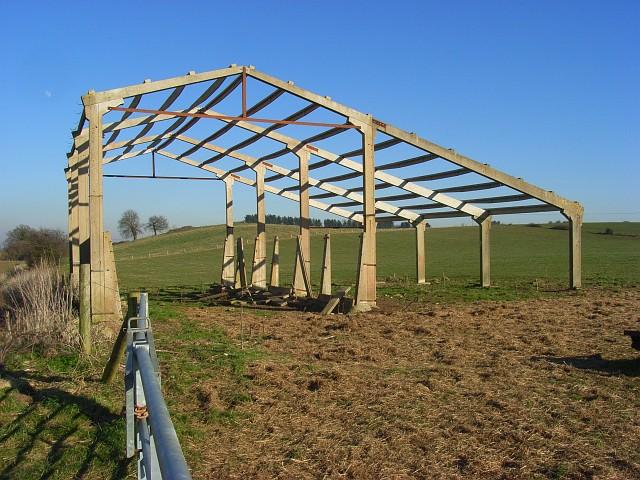 Barn framework, Little Coxwell