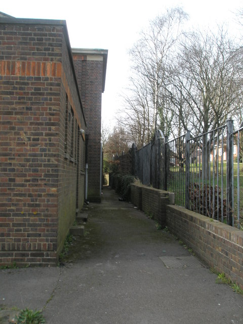 Passageway behind St Michael's