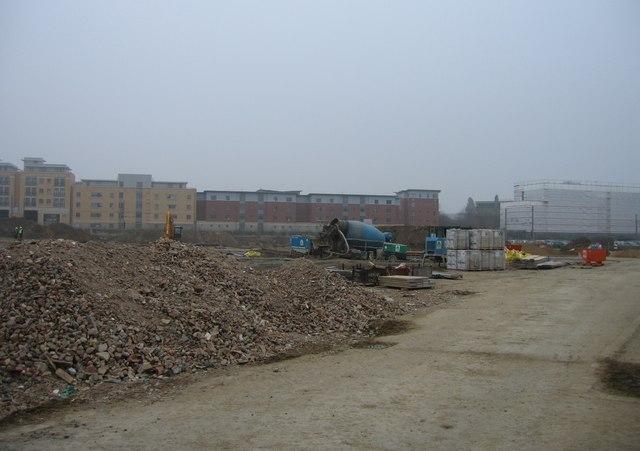 Building site off Fitzwilliam Road.