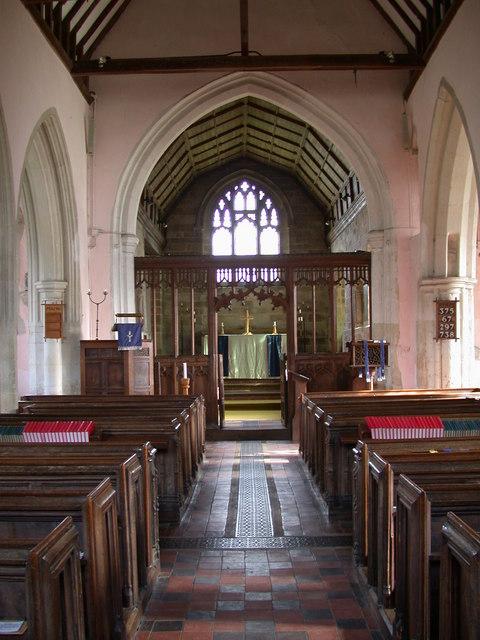 St Peter's Church, Coton - interior