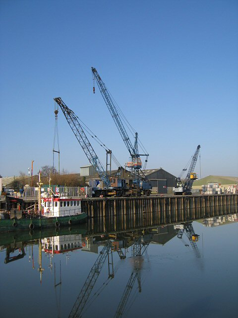Cranes at Glasson Dockside