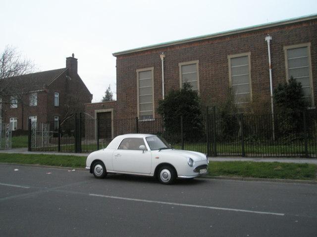 Unusual car outside St Michael's