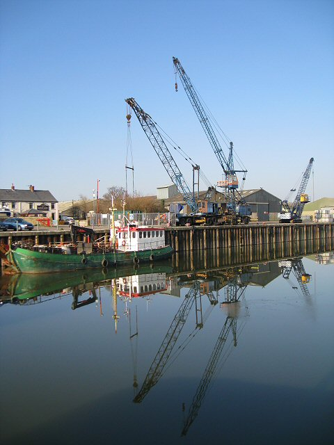 Reflections of cranes at Glasson Dock