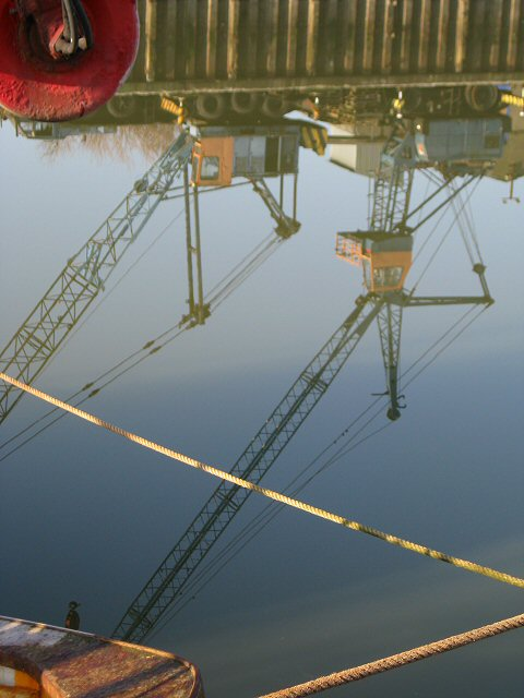 Reflections in the water, Glasson Dock