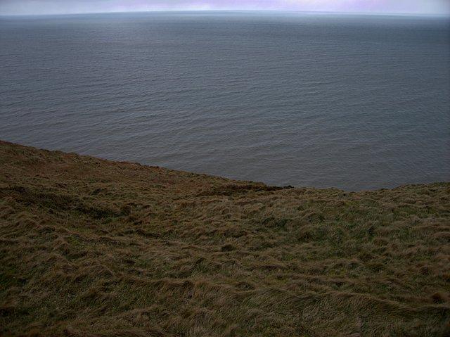 Grassy cliff top