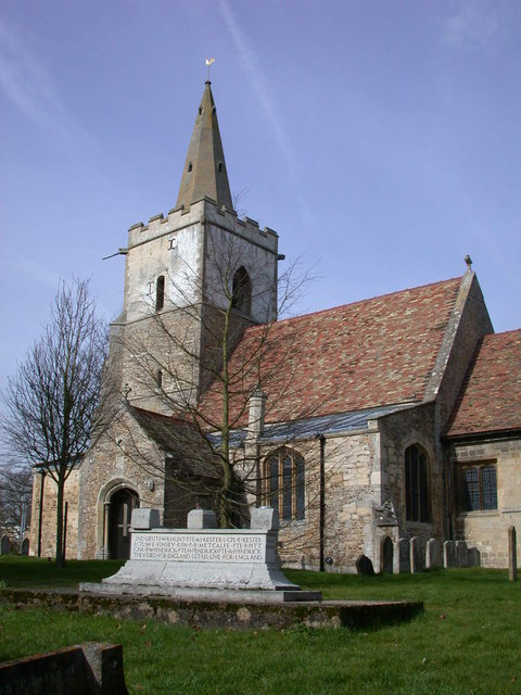 Coton War Memorial and Church