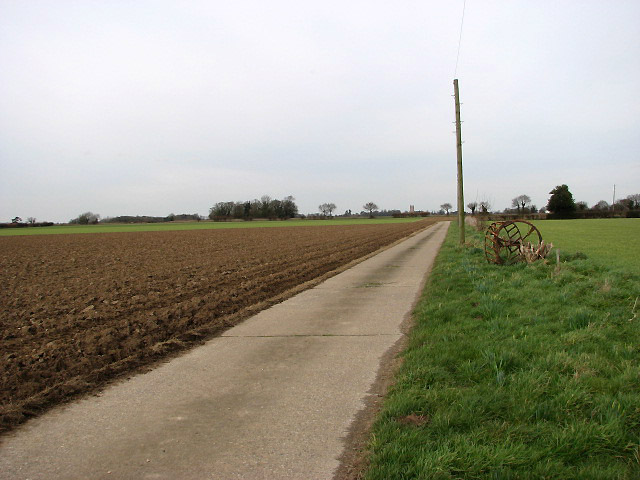 Former taxiway - now a farm road
