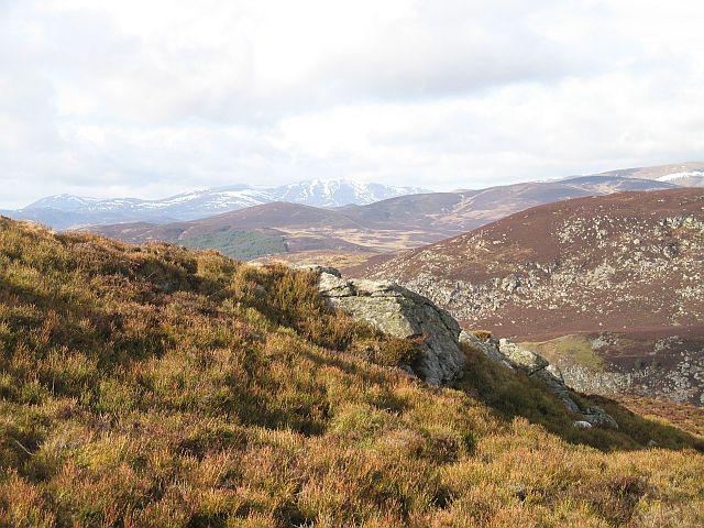 Rock outcrop, Meall Mòr