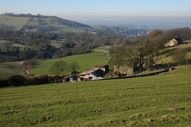 Farm below Billinge Hill