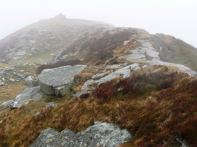 Approaching the summit of Chwarel y Fan