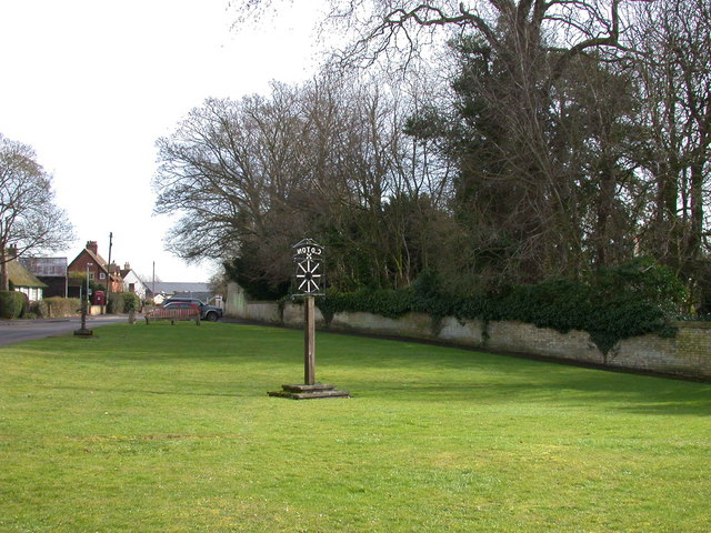 Coton Village Sign and Green