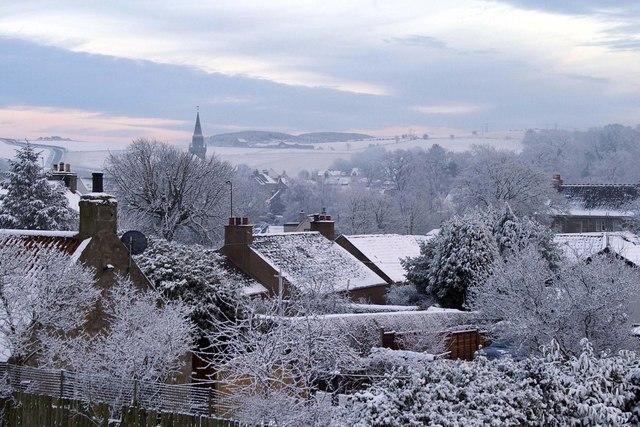 Ceres village under snow