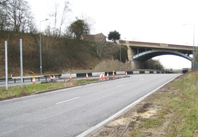 A3 / A31 interchange at the Hog's Back