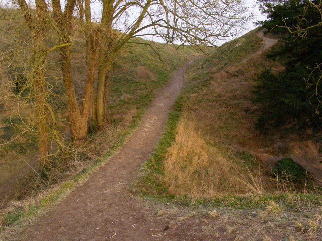 Western entrance to Old Sarum's bailey