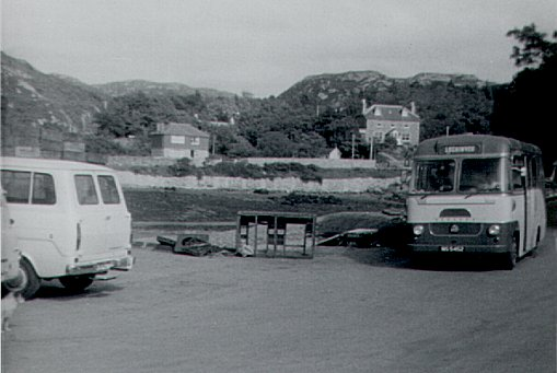 Lochinver: Arrival of Mail Bus from Lairg 1966