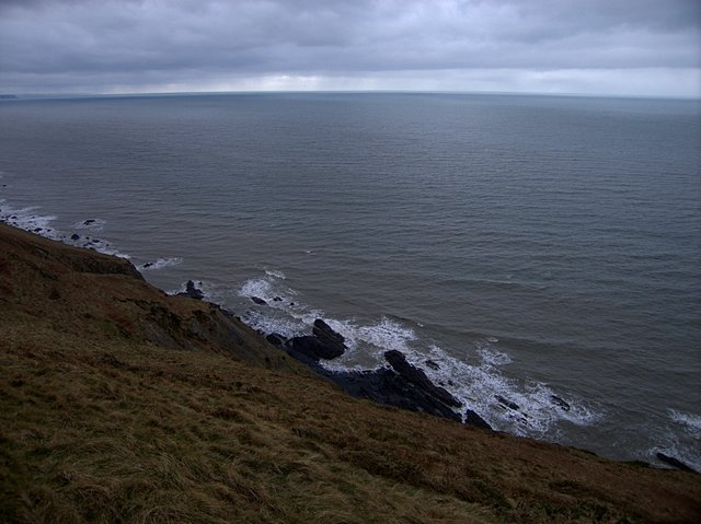 Clifftop near Tregynan Isaf