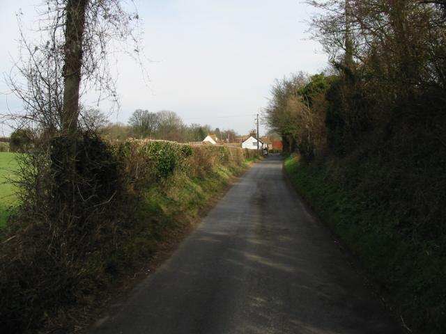View along Homestead Lane towards East Studdal