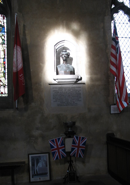 St Andrew's Church - bust of Abraham Lincoln