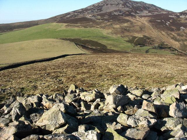 View due north along the summit of Mynydd Carnguwch