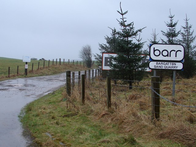 Entrance to Bargatton Sand Quarry and House