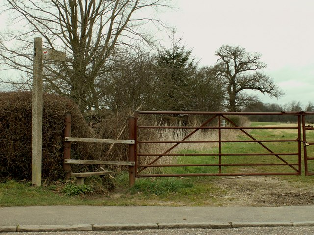 A stile on part of the Essex Way public footpath