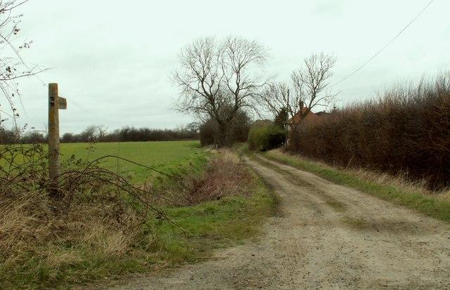 A bridleway running by Embleys Farm