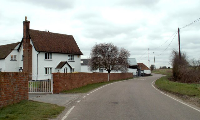 Part of School Road by Stewarts Farm
