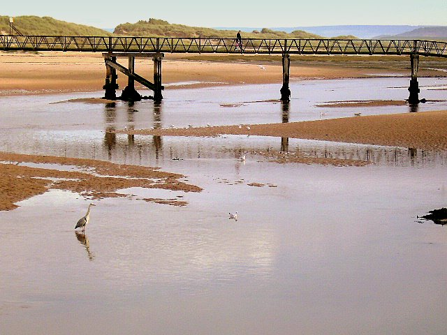 A Heron by the Bridge